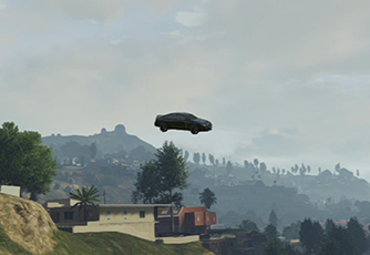 Another station... nearby tree. - Stunt Jumps - Challenges - Grand Theft Auto V Game Guide