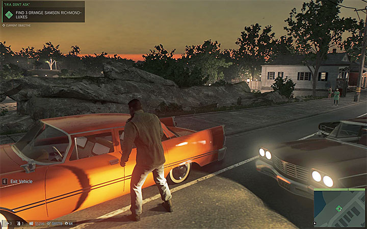 You can steal the parked car or take it from other drivers while roaming through the city - Favors for underbosses - Optional missions - Mafia III Game Guide