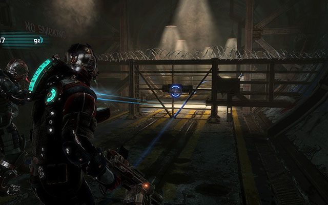 Walk through next rooms until you get to the corridor which begins with a locked door - use kinesis to open it and then move forwards - Investigate Carvers vision   Co-op missions: Marker Containment - Co-op missions: Marker Containment - Dead Space 3 Game Guide