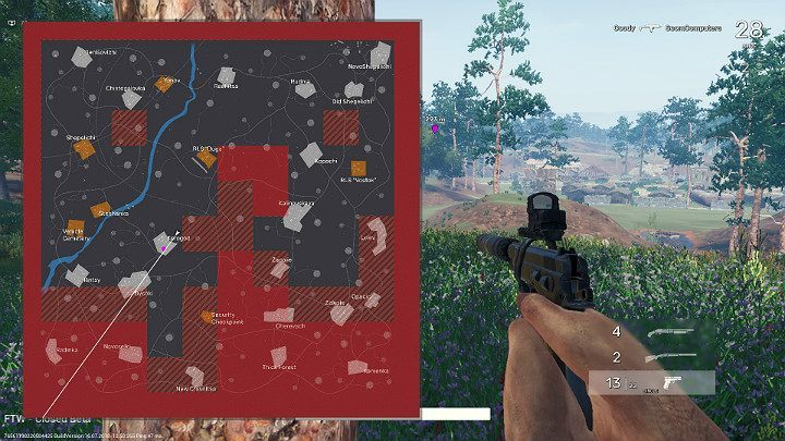 After a few minutes of exploring Fear The Wolves, gathering the necessary equipment and first fights, there will be fewer players on the map - Middle of the match in Fear the Wolves - Course of the match - Fear the Wolves Game Guide
