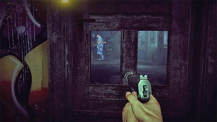 Еще один враг находится в комнате на полу, вы можете приблизиться к нему с помощью деформации, этот момент представлен на картинке - Не прослеживаемый |  Руководство по трофеям - Руководство по трофеям - Get Even Game Guide