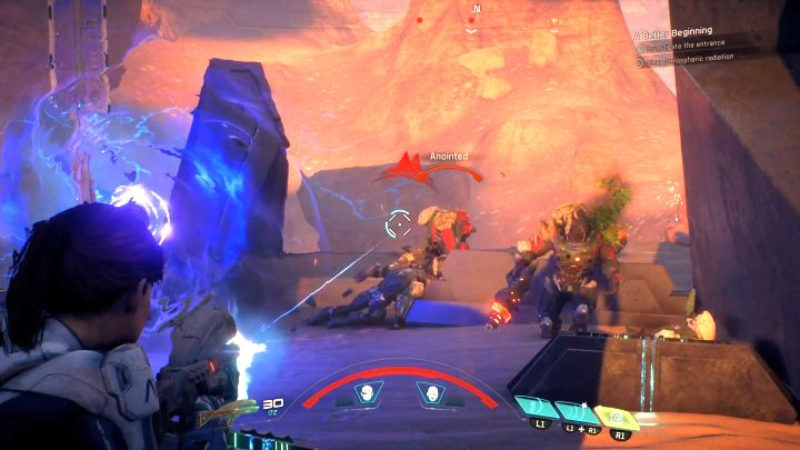 Constantly observe your surroundings as well as your shields and health bar. - A handful of general tips | Gameplay basics - Gameplay basics - Mass Effect: Andromeda Game Guide