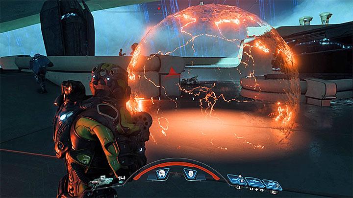 Сражаться с Бегемотом довольно сложно, потому что существо очень долговечно и имеет несколько специальных атак - Как победить Бегемота на Флагмане Кетта?     Босс борется    Прохождение - Битвы с боссами - Mass Effect: Руководство по игре Andromeda