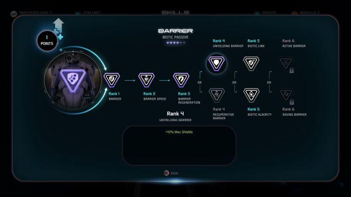 Начиная с 4 уровня, каждая способность предлагает два варианта. - Развитие персонажа в Mass Effect: Андромеда - Персонаж - Mass Effect: Андромеда. Руководство по игре