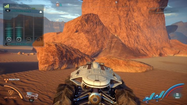 Окно в верхнем левом углу экрана показывает депозит, а также ресурсы, которые можно собрать.  - Как собирать ресурсы с помощью NOMAD в Mass Effect: Andromeda?  - FAQ - Часто задаваемые вопросы - Mass Effect: Руководство по игре Andromeda