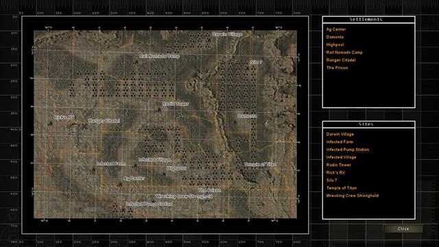 Map of Arizona - Exploration of the world of Wasteland | Exploration - Exploration - Wasteland 2 Game Guide & Walkthrough