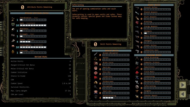 Character creation screen. - Party forming   Character development - Character development - Wasteland 2 Game Guide & Walkthrough