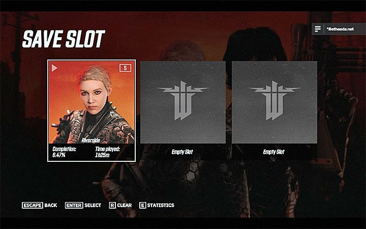 From the main menu of the game you can additionally select Save Slot option - Can I save the game in Wolfenstein Youngblood? - FAQ - Frequently Asked Questions - Wolfenstein Youngblood Guide