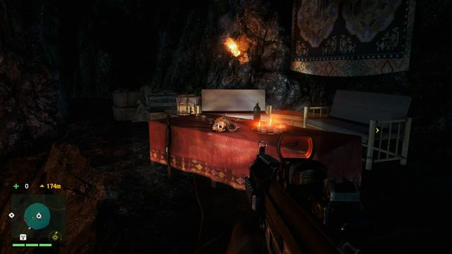 Inside a cave, on a table the serves for an altar - Southern and central Kyrat - Yalungas Masks - Far Cry 4 - Game Guide and Walkthrough