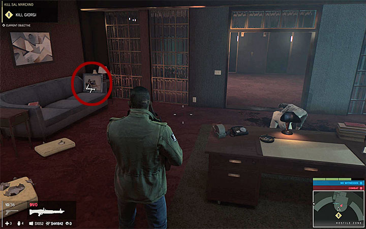 Painting 33 is on the first floor of the second area in the casino - Vargas paintings   Secrets - Secrets - Mafia III Game Guide
