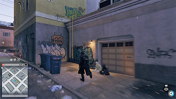 Choose an alley between the buildings and reach a yellow ladder (screenshot) that will allow you to enter the roof - Key data - locations from 1 to 12 - Collectibles - Watch Dogs 2 Game Guide
