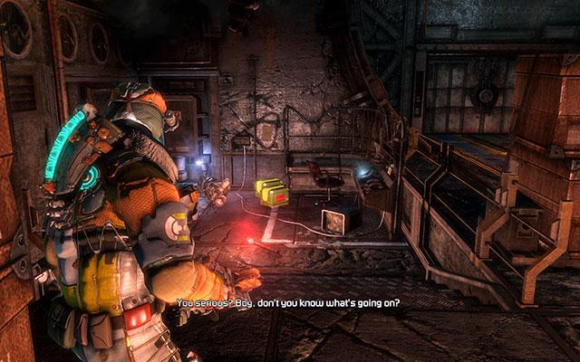 Когда вы подойдете к грузовому лифту, на вас прыгнет несколько некроморфов - Защитите оружейные боеприпасы |  Побочные миссии: Оружейная - Побочные миссии: Оружейная - Dead Space 3 Руководство по игре