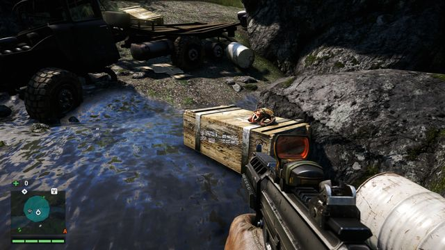 You will find the mask on a crate - Southern and central Kyrat - Yalungas Masks - Far Cry 4 - Game Guide and Walkthrough