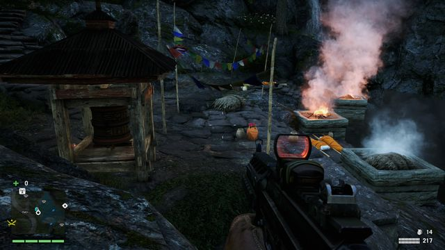 You can find the wheel in at the bottom of this location, right near the river - Southern and central Kyrat - Mani Wheels - Far Cry 4 - Game Guide and Walkthrough
