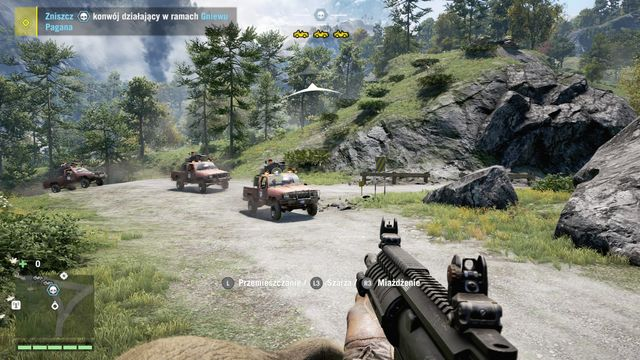 The convoy consists of three cars. - Pagans Wrath convoy - Activities - Far Cry 4 - Game Guide and Walkthrough
