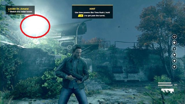 The first secret can be found at the stairs near the turret. - Chronon Sources (act III) - Secrets - Quantum Break - Game Guide and Walkthrough