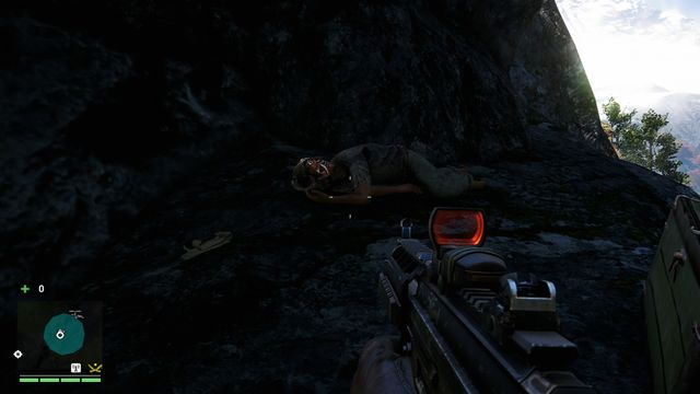 Go through the narrow passage and use the hook to go up - Southern and central Kyrat - Yalungas Masks - Far Cry 4 - Game Guide and Walkthrough