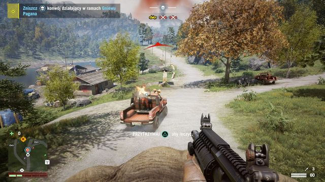 Thanks to using the elephant to ram the convoy and laying fire down on cars, you deal with the convoy in no time at all. - Pagans Wrath convoy - Activities - Far Cry 4 - Game Guide and Walkthrough