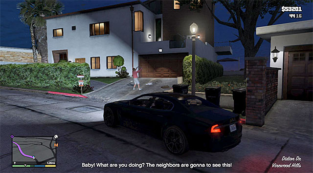 The place where you meet the arguing couple - Domestic dispute - Random events - Grand Theft Auto V Game Guide