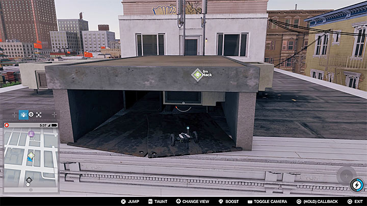 Switch to Jumper, and make sure that youve activated Speed Boost, as it will be necessary for making a very far jump - Key data - locations from 1 to 12 - Collectibles - Watch Dogs 2 Game Guide
