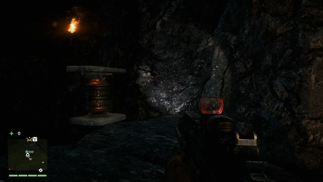You will find this wheel inside the cave, in a larger chamber to the right of the entrance - Southern and central Kyrat - Mani Wheels - Far Cry 4 - Game Guide and Walkthrough
