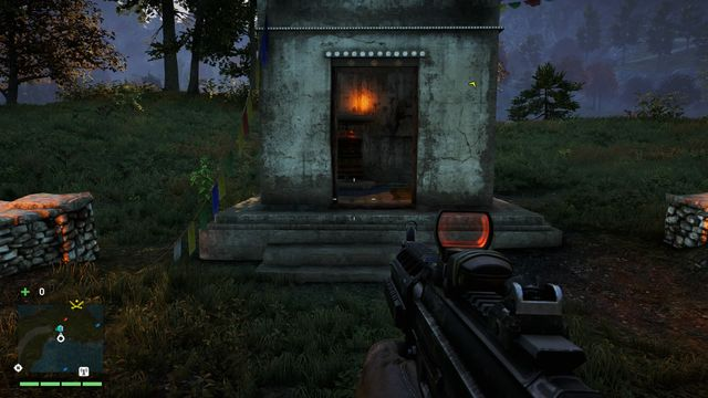 This wheel can be found inside a small shrine located on an island, in the middle of the river - Southern and central Kyrat - Mani Wheels - Far Cry 4 - Game Guide and Walkthrough