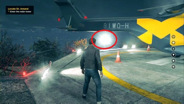You will find the collectible behind a Monarch helicopter. - Chronon Sources (act III) - Secrets - Quantum Break - Game Guide and Walkthrough