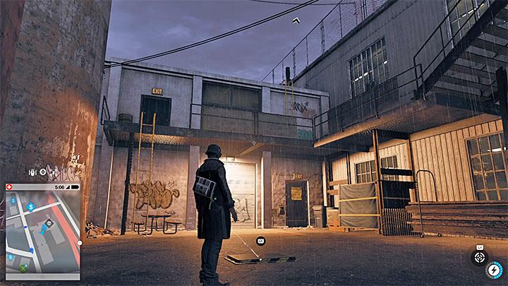 Эта исследовательская точка расположена на крыше очень высокого здания, но вы должны начать подниматься с самой ее базы - Точки исследования - карта, локации 1-61 - Коллекционирование - Руководство по игре Watch Dogs 2