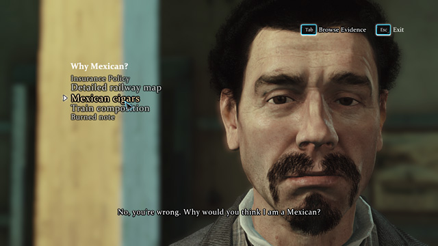 This man doesnt speak the truth. - Find the man who is smoking cigars - Riddle On The Rails - Sherlock Holmes: Crimes and Punishments - Game Guide and Walkthrough