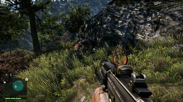 Facing the wreck, notice the log on the left and a large rock behind it - Southern and central Kyrat - Yalungas Masks - Far Cry 4 - Game Guide and Walkthrough
