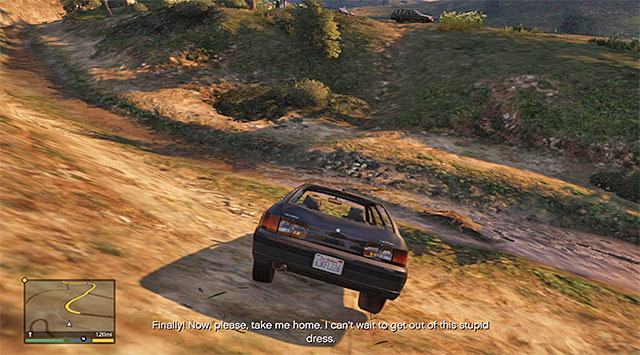 You can easily lose the grooms car by riding over the wilderness - Hitchhiker - 4 - Random events - Grand Theft Auto V Game Guide