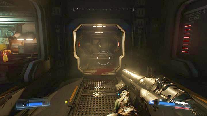 Откройте его, а затем используйте компьютер, чтобы открыть отрывок справа - Операции с ресурсами |  Секреты - Секреты - Руководство по игре в Doom и прохождение