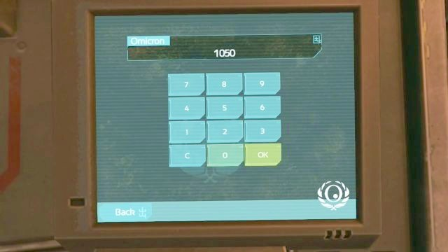 Put the 1050 code in. - Outside Omicron | Riddles and puzzles of SOMA Game - Riddles and puzzles - SOMA Guide