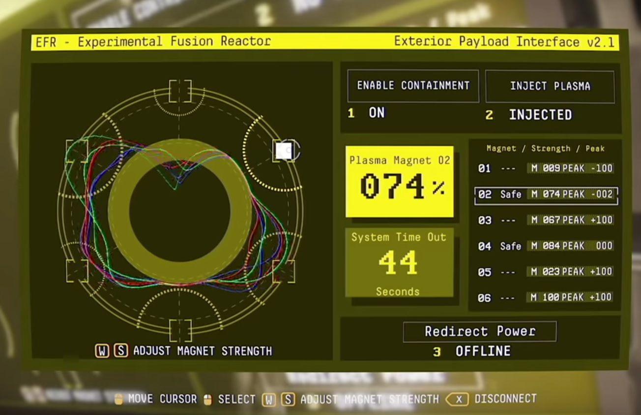 Подключитесь к нему, нажмите ENABLE CONTAINMENT, а затем на INJECT PLASMA - II.  Реактор  Прохождение Наблюдения - Прохождение - Руководство по Наблюдению