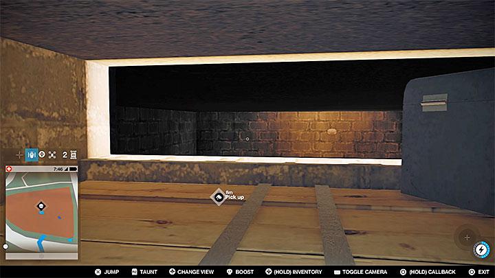 После того, как вы дойдете до подвала, обратите внимание на очень маленькую дыру под потолком, показанную на рисунке выше - Точки исследования - карта, локации 1-61 - Коллекционирование - Руководство по игре Watch Dogs 2