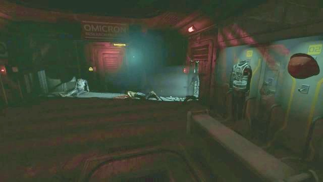 You can perform Data Buffer on the corpses. - Omicron station | Collectibles in SOMA Game - Collectibles - SOMA Guide