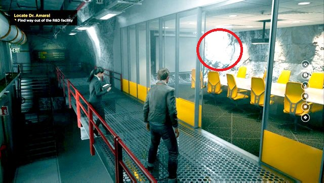 The source hidden in the conference room can be easily missed. - Chronon Sources (act III) - Secrets - Quantum Break - Game Guide and Walkthrough