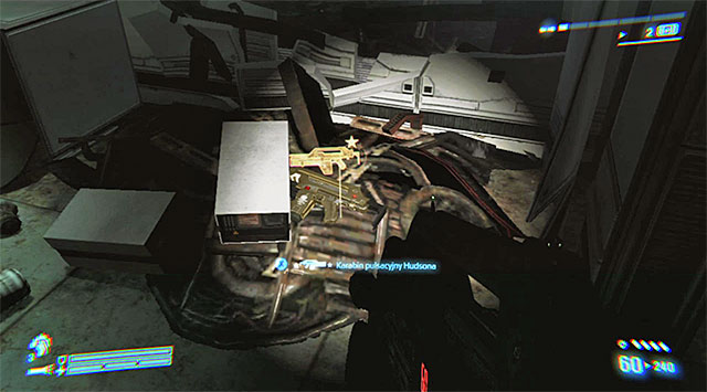 LEGENDARY WEAPON 3/6 (Hudsons Pulse Rifle) - Shortly after meeting up with O'Neal and retrieving your equipment - Legendary Weapons - Collectibles - Aliens: Colonial Marines - Game Guide and Walkthrough