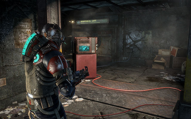 Go up and move ahead - youll find yourself in a corridor with blocked door - Recover anything that survived the purge   Side missions: Disposal Services - Side missions: Disposal Services - Dead Space 3 Game Guide
