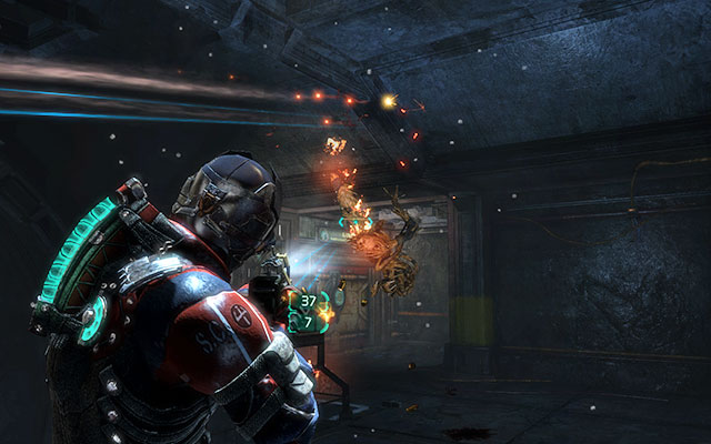 During crossing the bridge a small horde of Necromorphs will surprise you - it is best to stand in the middle of the bridge and watch each end, so both of you can take out creatures on both sides - Investigate the warehouses secrets | Co-op missions: Archeology - Co-op missions: Archeology - Dead Space 3 Game Guide