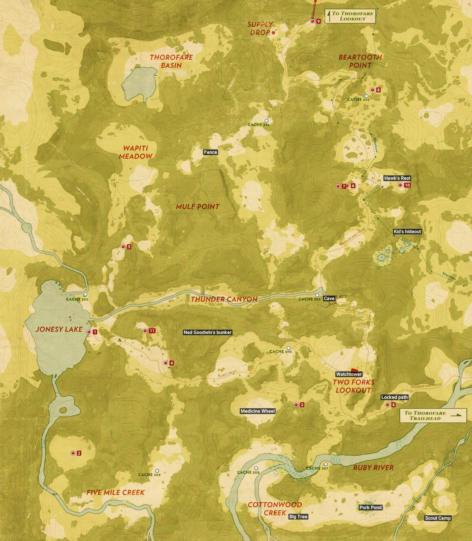 Firewatch - World Map