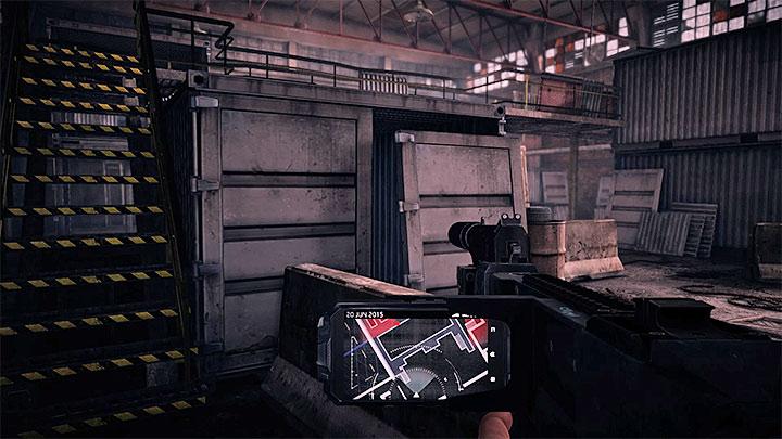 Последнее место, где вы должны быть скрытным, это большой склад, представленный на картинке выше - Чистая работа |  Руководство по трофеям - Руководство по трофеям - Get Even Game Guide