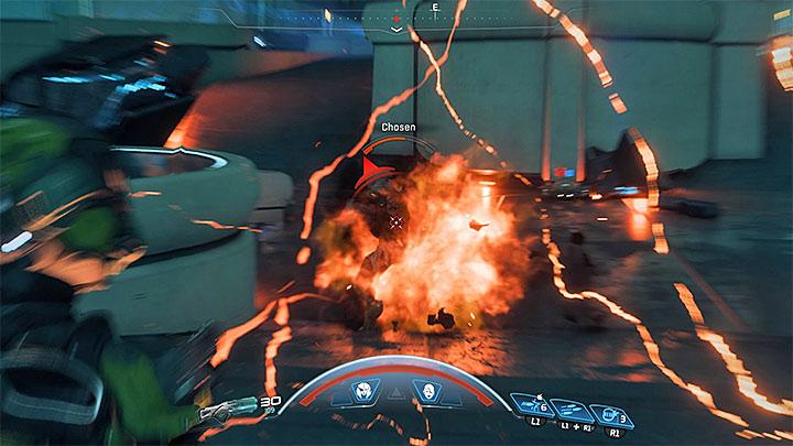 Быстро устраните помощников Бегемотов - Как победить Бегемота на Флагмане Кетта?     Босс борется    Прохождение - Битвы с боссами - Mass Effect: Руководство по игре Andromeda