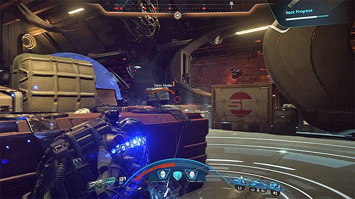 Защити себя возле второй точки доступа - Как победить Калота на космическом корабле Кетта?  |  Босс борется |  Прохождение - Битвы с боссами - Mass Effect: Руководство по игре Andromeda