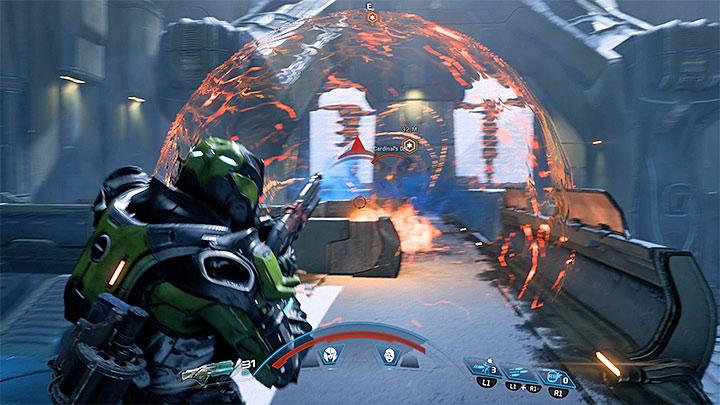Кардинал также может посылать энергетические сферы (например, изображенные на скриншоте выше), которые извергаются и увеличиваются в размерах перед тем, как распасться. Как победить кардинала Вельда Кетта?  |  Босс борется |  Прохождение - Битвы с боссами - Mass Effect: Руководство по игре Andromeda