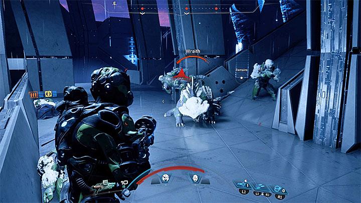 Как только Меч отступит, сфокусируйте свой огонь на входящем кетте - Как победить Меч Архонтов в Меридиане?     Босс борется    Прохождение - Битвы с боссами - Mass Effect: Руководство по игре Andromeda