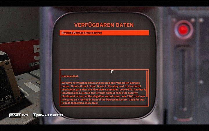 Декодированные сообщения могут быть различными, но они могут содержать, помимо прочего, готовые комбинации. Как открыть красный ящик в Wolfenstein Youngblood?  - FAQ - Часто задаваемые вопросы - Wolfenstein Youngblood Guide