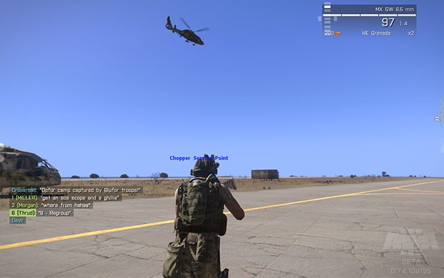 Chopper flies away with a new batch of soldiers - Domination Co-op/TvT - Multiplayer servers - Arma III - Game Guide and Walkthrough