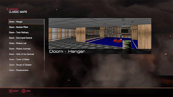 Классические карты можно выбрать в главном меню - выберите опцию Классические карты - Как разблокировать классические карты в Doom?  - Основы - Руководство по игре в Doom и прохождение
