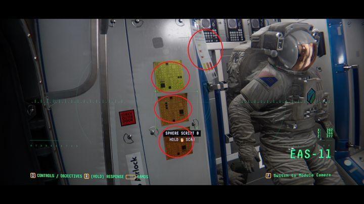 Вы окажетесь в модуле EAS-09 - III.  Первая космическая прогулка    Прохождение Наблюдения - Прохождение - Руководство по Наблюдению
